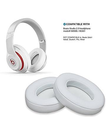 Almohadillas de Repuesto de Color Blanco, 2 Almohadillas de Espuma para Auriculares Beats Studio 2.0