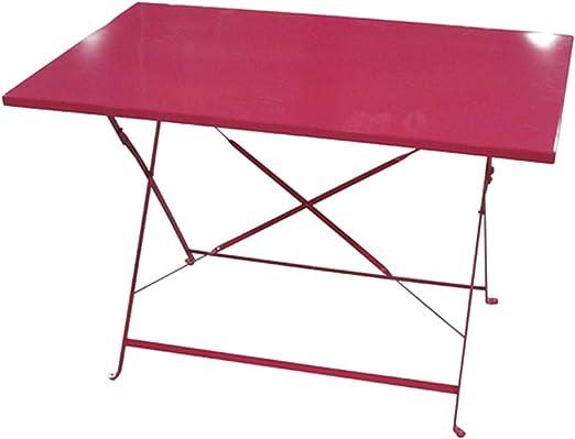Table de jardin pliante Camargue - 110 x 70 cm - Rouge ...
