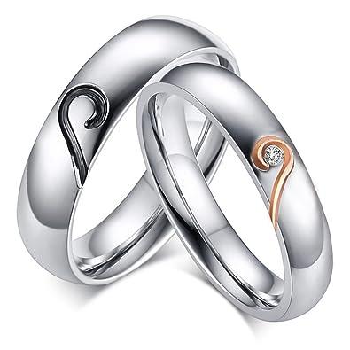 Amazon.com: ROWAG anillos de compromiso para pareja, con ...