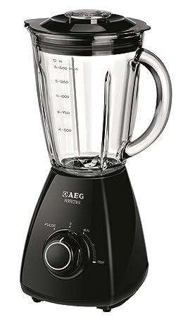 AEG SB175 PerfectMix - Batidora de vaso (jarra graduada de 1,5 l, picahielo), color negro: Amazon.es: Hogar