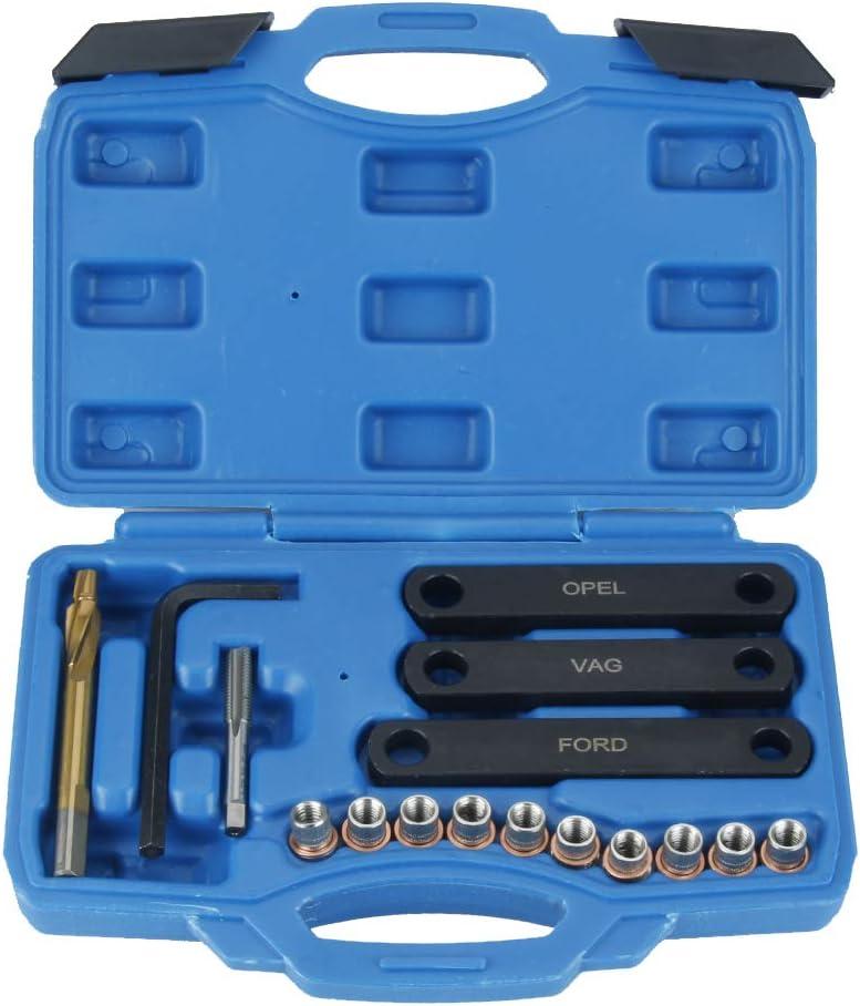 Gecheer M9 x 1,25 Reparatursatz f/ür Bremsgewinde Bremssattelf/ührung Gewindereparaturwerkzeug