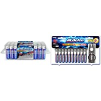 ACDelco 40-Count AA Batteries, Maximum Power Super Alkaline Battery, 10-Year Shelf Life & ACDelco 20-Count AAA Batteries…