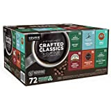 Keurig Crafted Classics Coffee K-Cups 72 Pods 6 Variety Collection Med Roast