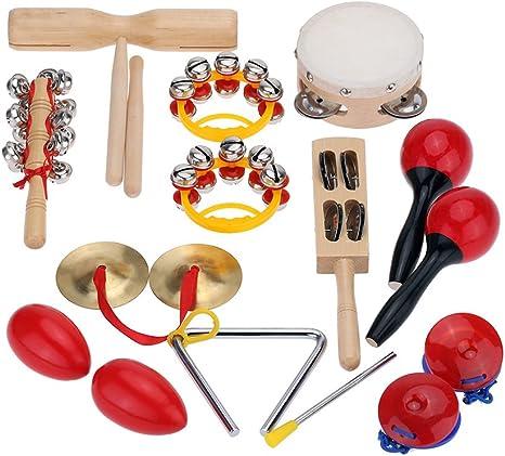 ammoon Percusión Set Instrumentos Musicales Juguetes Band Kit ...