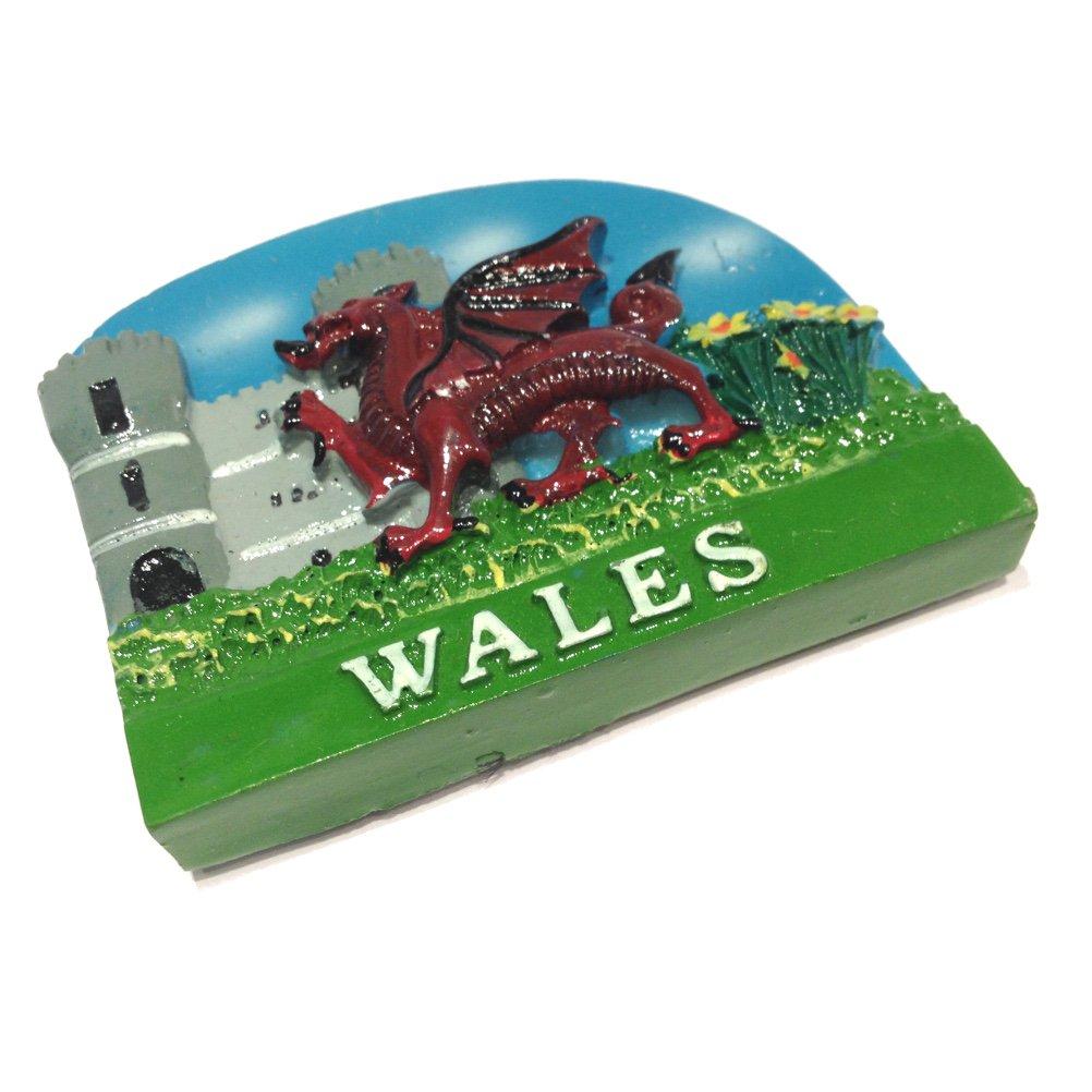 Bluesky y castillo de dragón galés Imán para nevera [otk]: Amazon ...