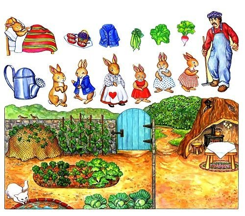 A Rabbits Tale Felt Figures for Flannelboard Stories-precut and Ready to Use!