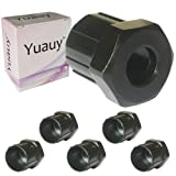 Yuauy 5 PCs Bike Freewheel Remover Bicycle Cycling Removal Repair Lockring Tool Sleeve Black