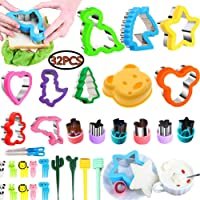 Cookie Cutter, Vegetable Shape & Fruit Cutter Set 22 PCS, Multi-Size Sandwich Fondant Cake, Biscuit Cutter Include Santa Claus,Christmas Tree,Mickey Mouse, Dinosaur, Star,for Children
