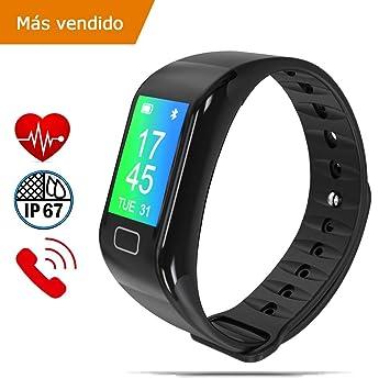 2a85a0d62cc9 NK Pulsera de Actividad Inteligente SmartBand 02, Smartband-02, Frecuencia  cardíaca, Monitor del sueño, Resistencia al Agua IP67, Podómetro | Color ...