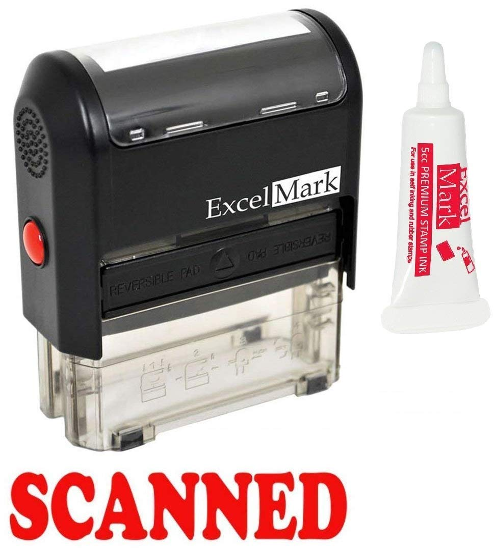 SCANNED Self Inking Rubber Stamp - Red Ink (42A1539WEB-R) Discount Rubber Stamps SCANNED 42020WEB