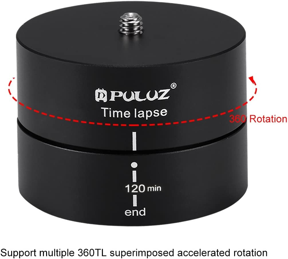 Tripod Head Adapter 360 Degrees Panning Rotation 120 Minutes Time Lapse Stabilizer Tripod Head Adapter
