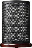 "Sanford Rolodex Distinctions Jumbo Metal & Wood Pencil Cup, 4-1/2"" Diameter x 6-1/2"", Black/Cherry (1813859)"