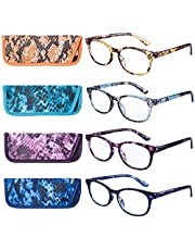 EYEGUARD Reading Glasses 4 Pack Fashion colorful Readers for women