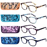EYEGUARD Reading Glasses 4 Pack Quality Fashion colorful Reading Glasses for women