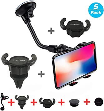 LoyaForba Car Phone Mount, Universal Phone Holder For Car Cell ...