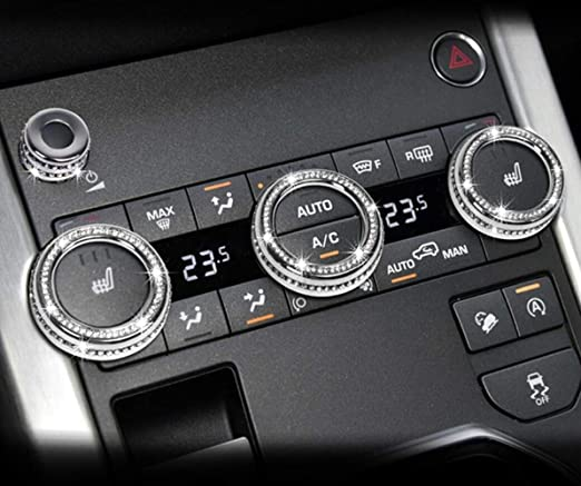 Danlu Auto for Range Rover Car Interior Decoration Gear Shift Knob Panel Frame Cover for Landa Rover Shift Knobs Sticker for Landa Rover-Silver
