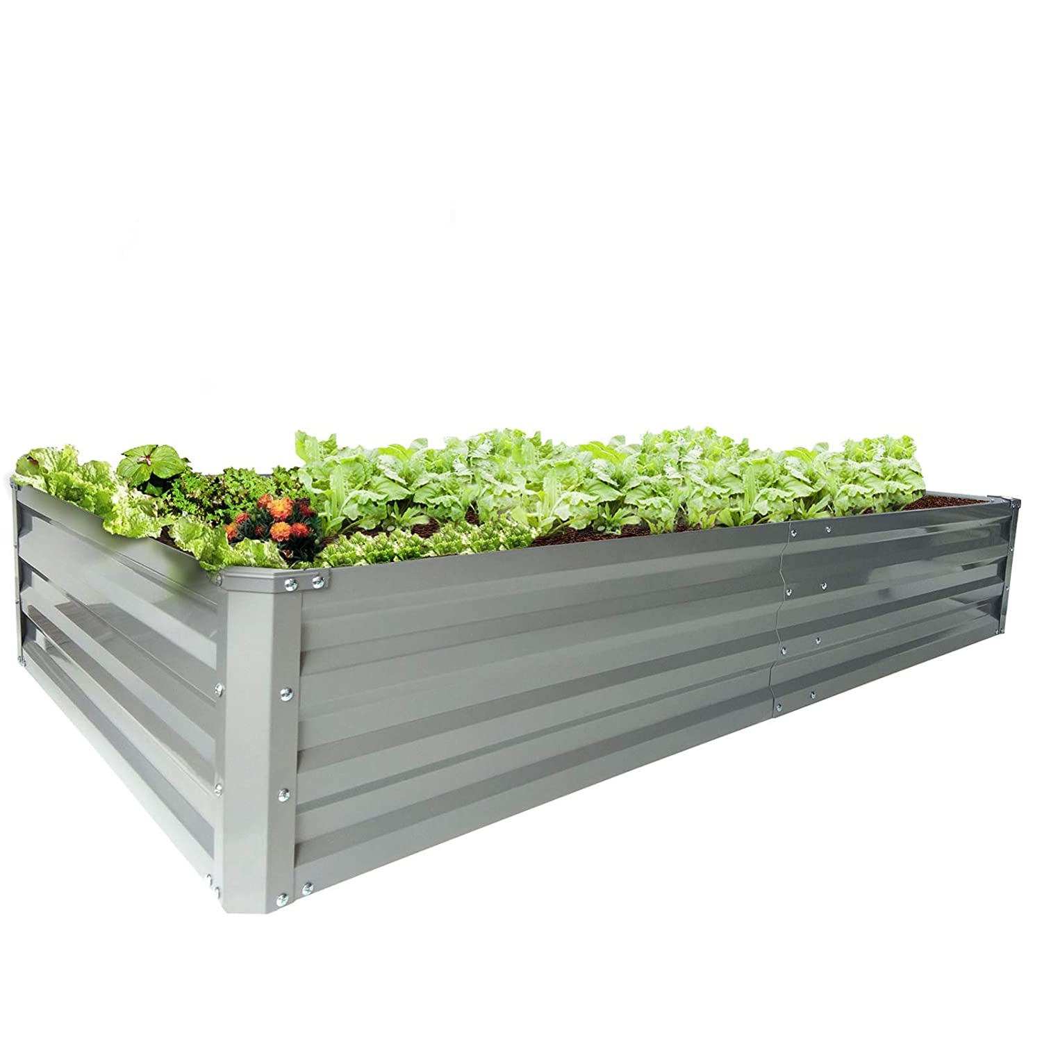 Buy Zizin Galvanized Raised Garden Beds Metal Elevated Planter Box Steel Large Vegetable Flower Bed Kit 6 Aƒa 3 Aƒa 1 Ft Online At Low Prices In India Amazon In