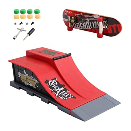 5429a685faa6 Image Unavailable. Image not available for. Color: Skate Park Kit Ramp Parts  - Mini Finger Skateboard Park for Tech Deck Fingerboard Ultimate Parks