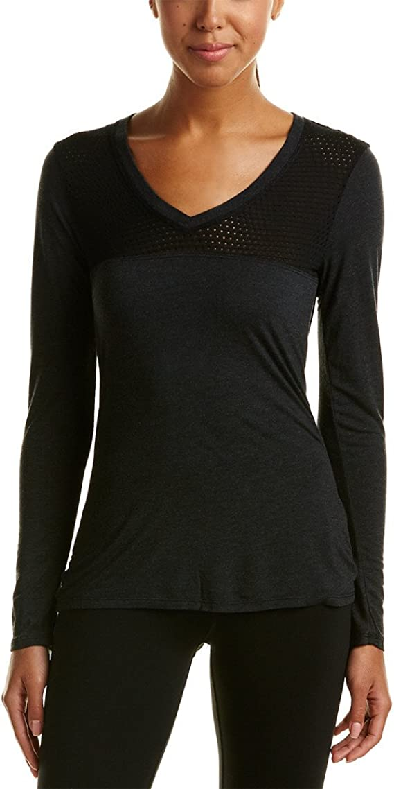Trina Turk Womens Half Zip Long Sleeve Active Top