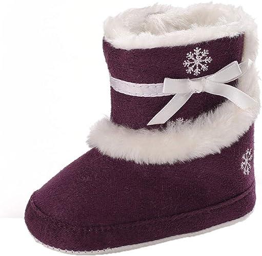 LHWY Primeros Pasos Zapatos Algodón Suela Blanda Zapatillas Estar por casa Acolchado Calentar Invierno para Niños ...