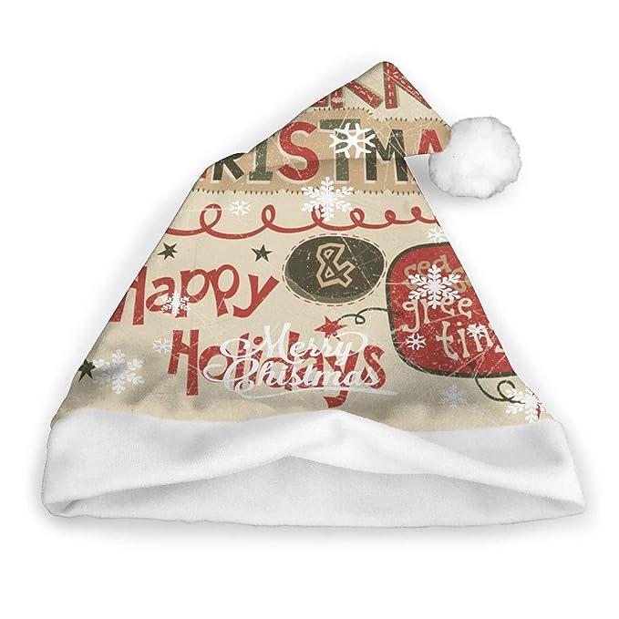 Amazon.com Merry Xmas Adults Christmas Hats Santa Hat DIY