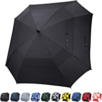 G4Free Extra Large Golf Umbrella Double Canopy Vented Square Umbrella Windproof Automatic Open 62 Inch Oversize Stick Umbrella for Men Women