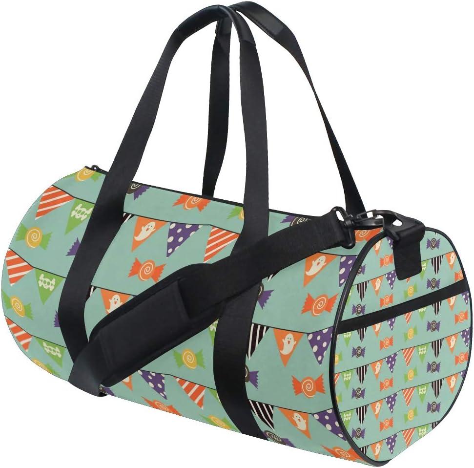 MALPLENA Halloween Burgee Drum gym duffel bag women Travel Bag
