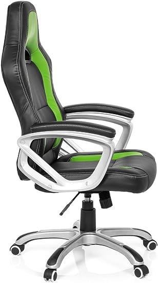 Gaming Stuhl Bürostuhl GAMING ZONE PRO AB100 Kunstleder schwarz//grün
