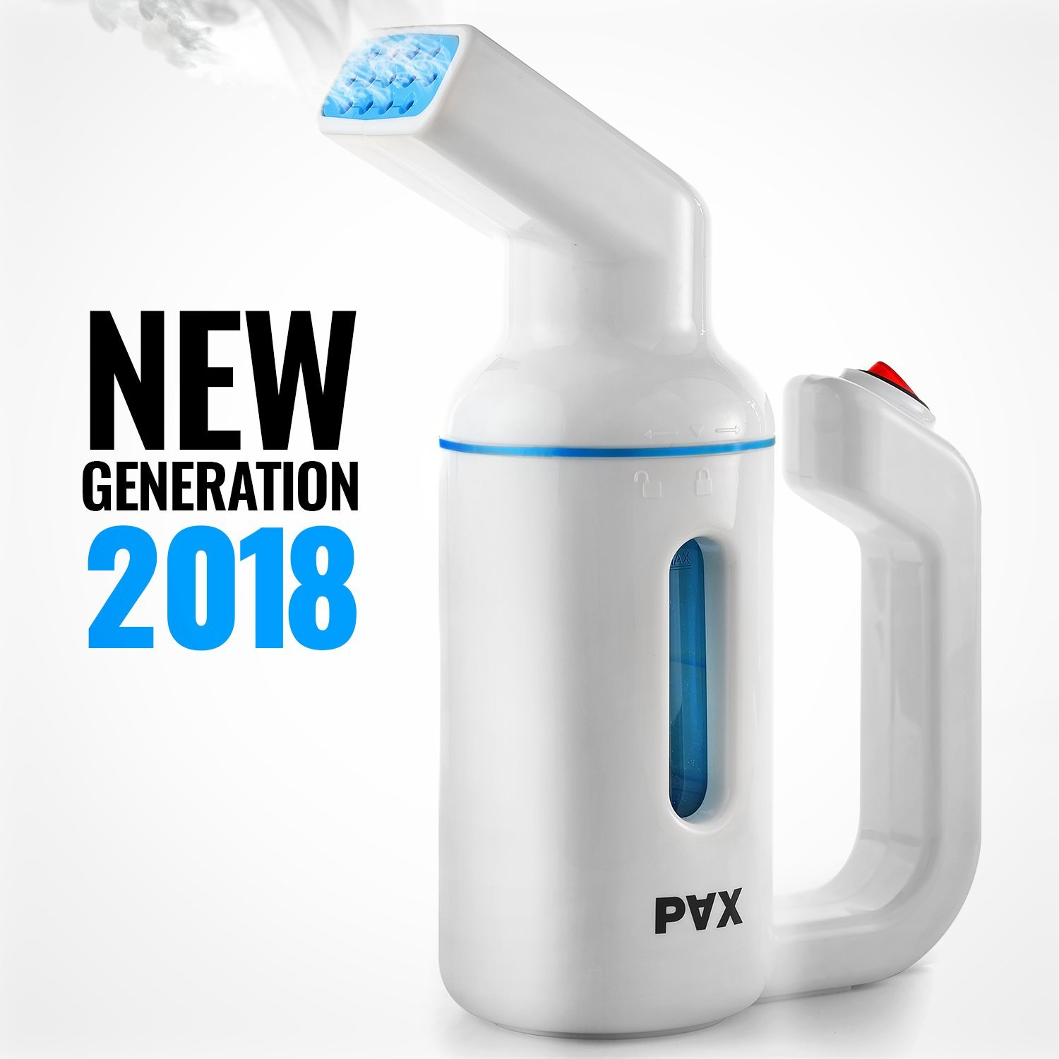 PAX Clothes Steamer, Travel and Home Handheld Garment Steamer, 150ML Capacity Garment Steamer, Automatic Shut Off Safety Protection