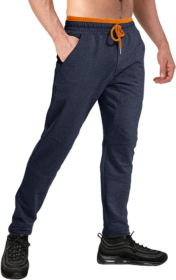 TACVASEN Joggers para Hombre Algodón Pantalones de Chándal ...
