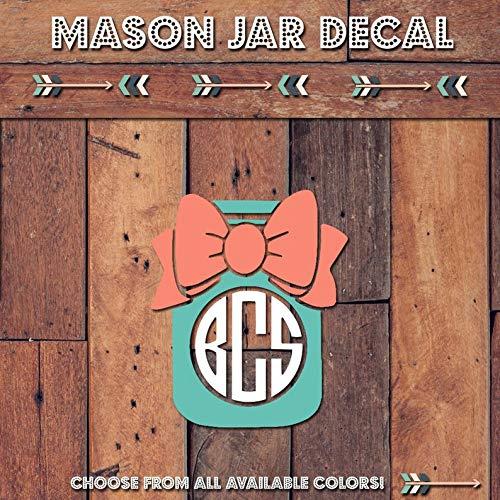 monogram mason jar tumbler - 8