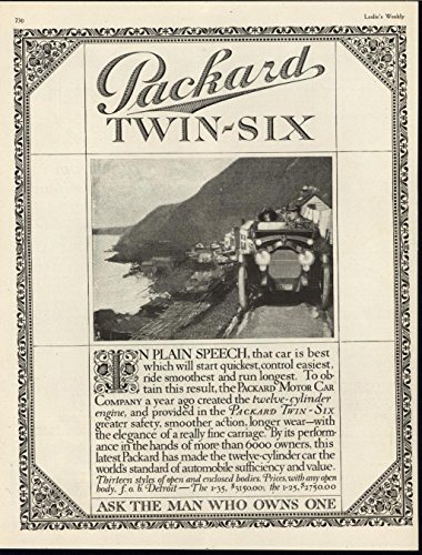 Packard Twin Six Automobile Quick Easy Control 1916 vintage advertisement - Automobile Advertisements Vintage