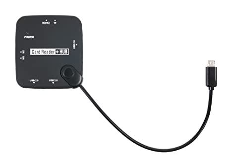 DURAGADGET All in One Card Reader HUB with Micro USB Connectivity