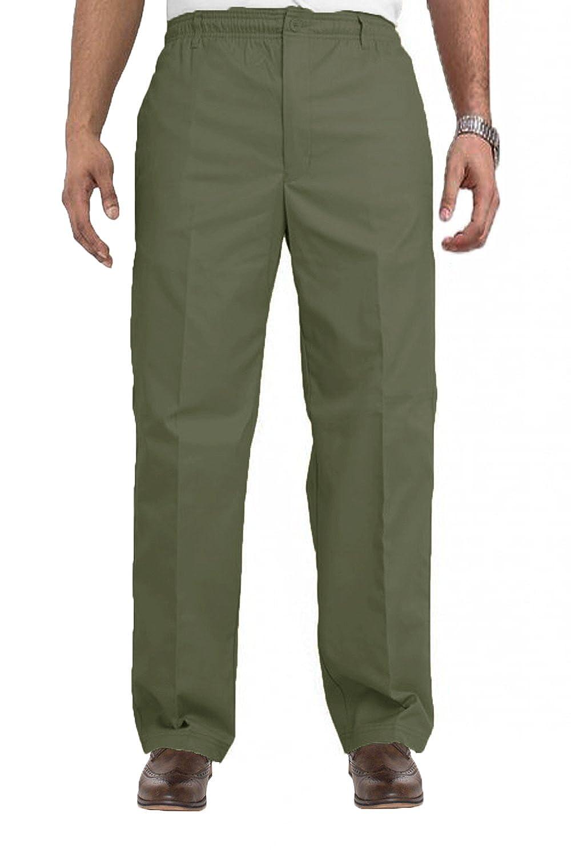 Carabou Hombres Inteligentes Pantalones De Rugby Con Cintura Elástica Con Cordón: Cintura 81.3 cm-152.4cm X -Corto-Regular - Caqui, ES 62-Normal