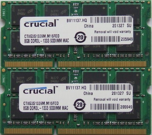 Ram memory upgrades 16GB kit (8GBx2) DDR3 PC3 10600 1333Mhz for latest 2011 Apple MacbookPro's laptops, iMac's and Mac (Macbook Ram Upgrade)