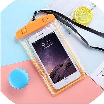 Teléfono móvil Impermeable Caja Estanca Universal Celular Móvil seco Bolsa de la Cubierta para el iPhone 6 6S 7 X XR para Samsung para Xiaomi, Naranja: Amazon.es: Electrónica