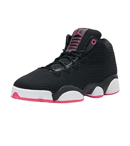 14c6c4db7dc61e Image Unavailable. Image not available for. Color  Jordans Girls Jordan  Horizon Low Walking Shoes Black Vivid Pink-White 7.5