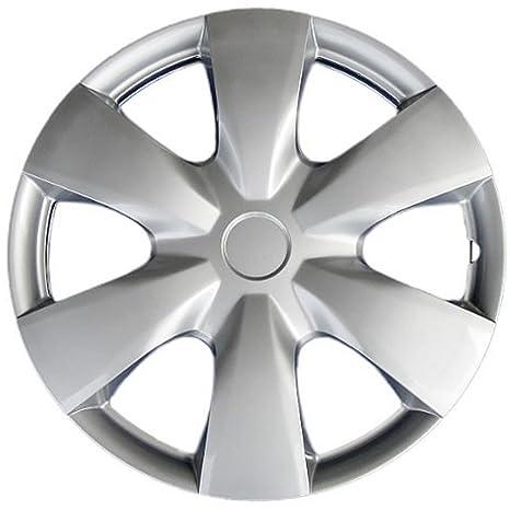 Tapacubos para Toyota Yaris (sola pieza) rueda cover – 15 inch plata repuesto