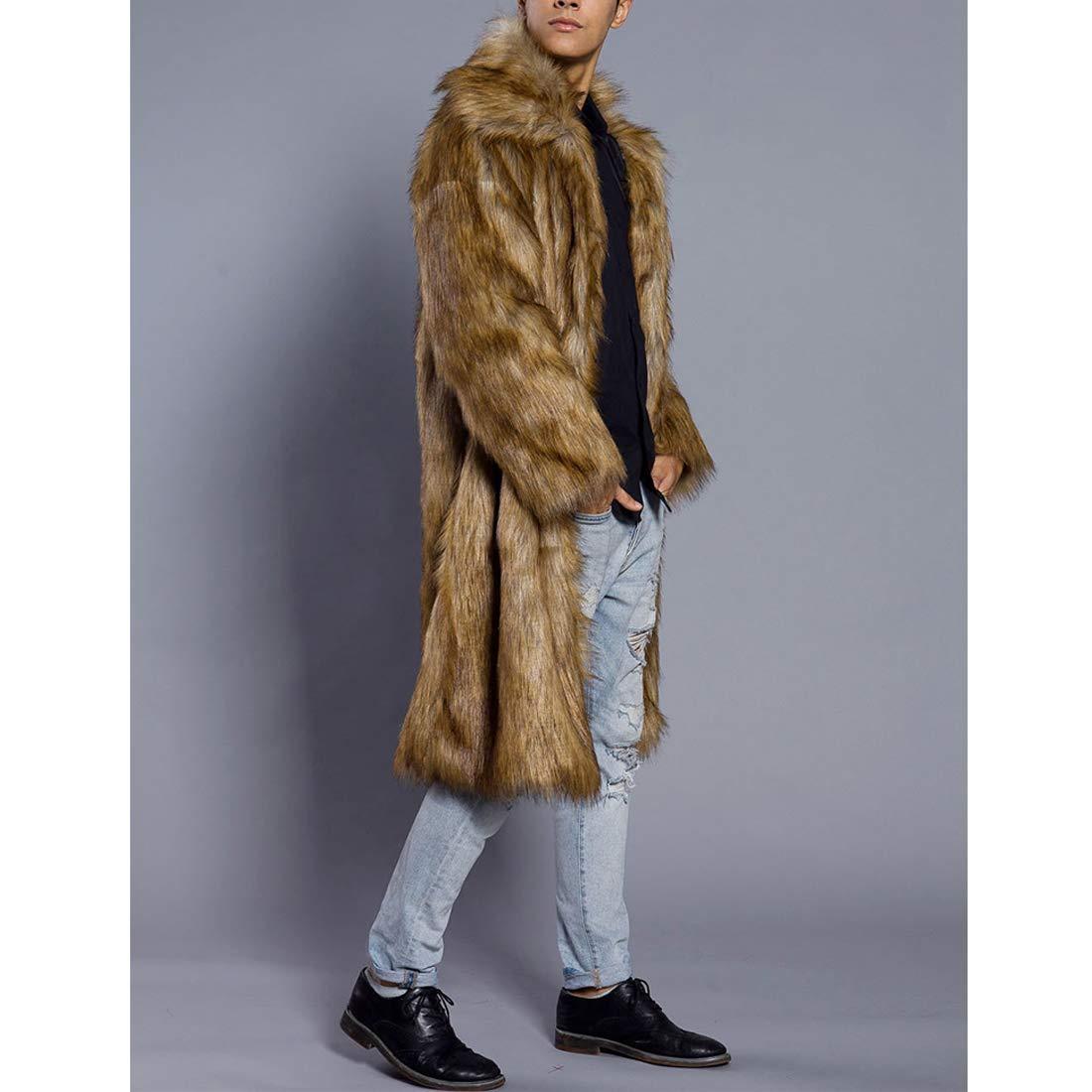 DorkasDE Herren Pelz Mantel Fellmantel Kunstpelz Jacke Warm Warm Warm Winterjacke B07GTFW7SB Jacken Wert cf2d8f