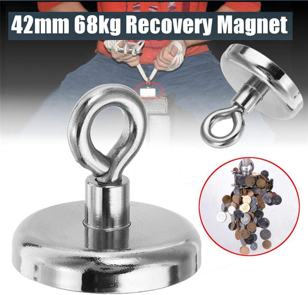 Sunronal NF42mm Powerful Magnet with Claw Hook Magnet Neodymium for Magnet Fishing and Salvage in River