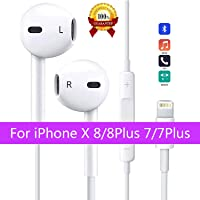Earphones/Earbuds Wired Headphones Noise Isolating Earphones with Remote Control Stereo Noise Canceling Compatible with iPhone X 8/8Plus 7/7Plus/XS/XR(Bluetooth Connectivity)