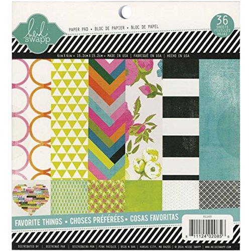 - Heidi Swapp Favorite Things Paper Pad, 6 by 6-Inch