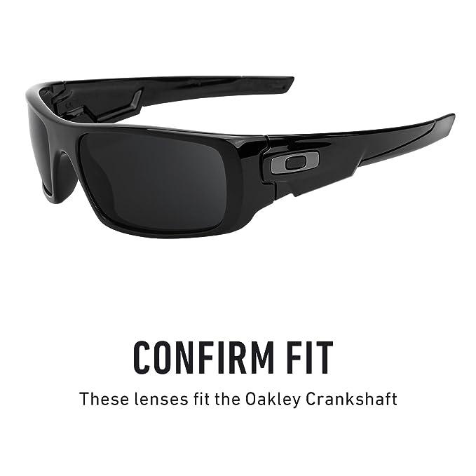 Amazon.com  Revant Polarized Replacement Lenses for Oakley Crankshaft Elite  Black Chrome MirrorShield  Sports   Outdoors c9b2d8660d