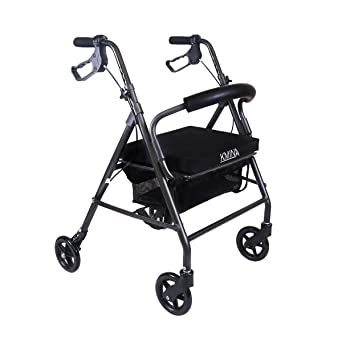 KMINA - Andador KMINA COMFORT 4 Ruedas, Andador para ancianos de 4 ruedas, Andador