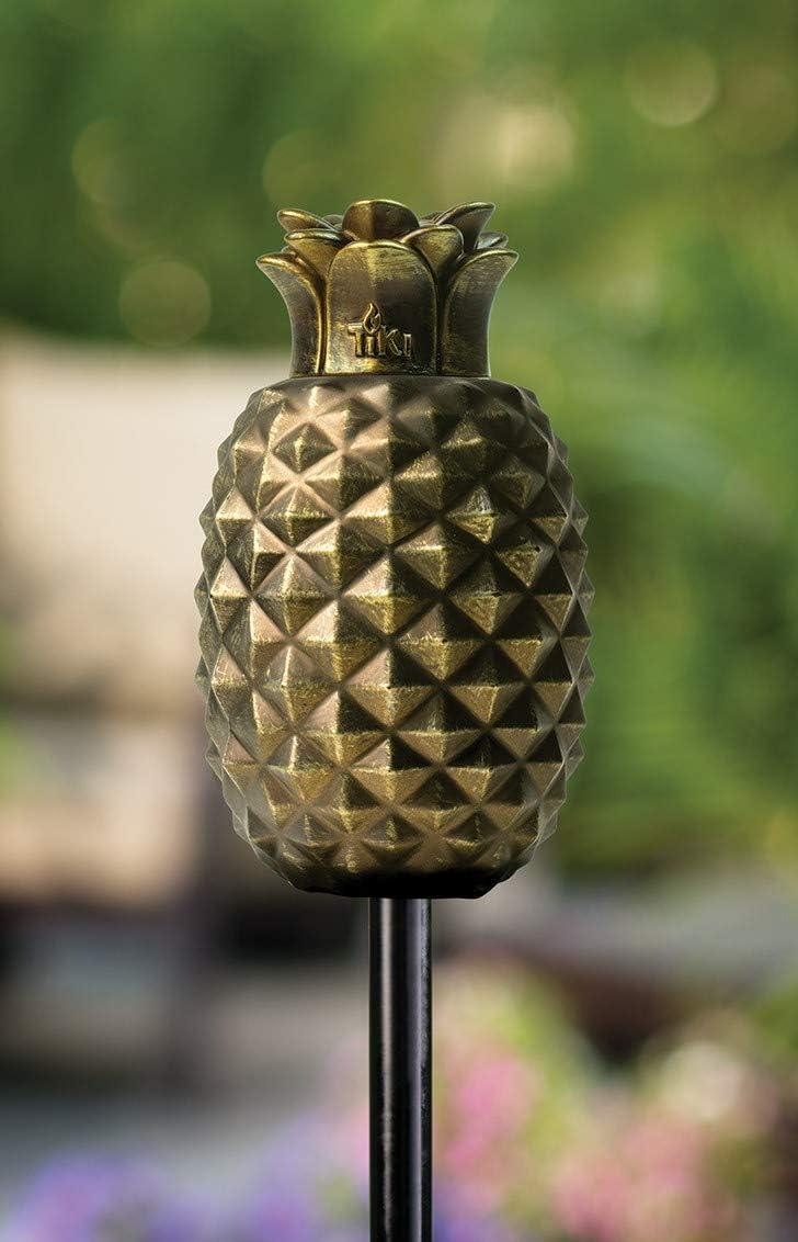 TIKI Brand Bronze Pineapple Torch (Glass)
