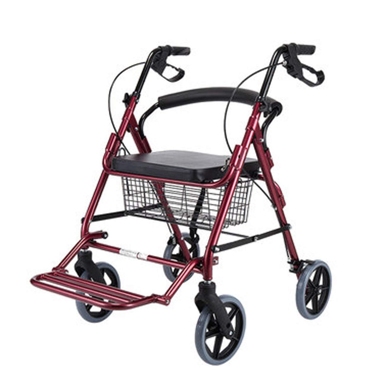 優先配送 高齢者の歩行者、ハンドブレーキ合金の歩行の歩行器を持って、4キャスター補助歩行者を運ぶ (色 (色 : Red) Red) B07KTY1525 Red B07KTY1525, 歯科医院専売品のデンタルフィット:d711c134 --- a0267596.xsph.ru