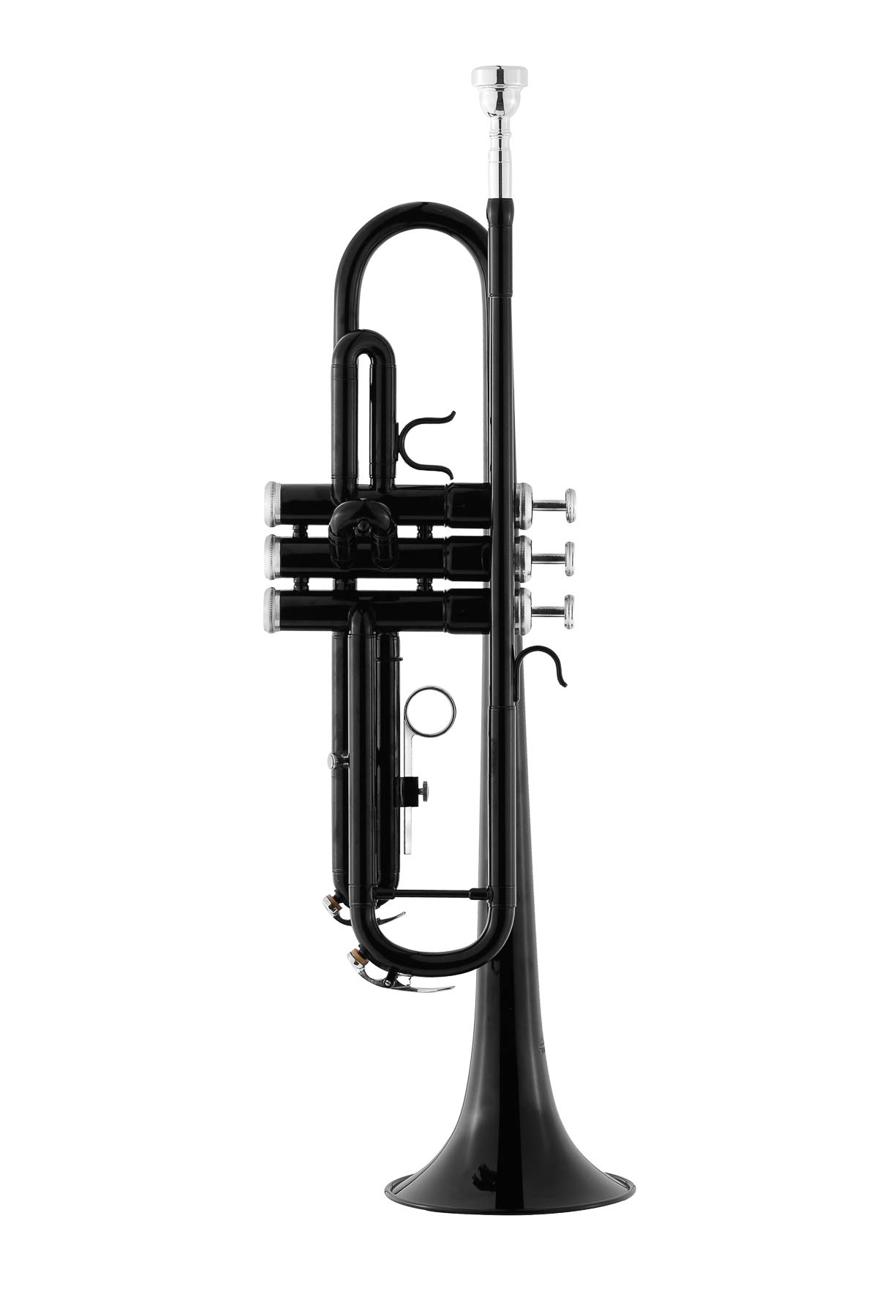 Eastrock Trumpet Brass Standard Bb Trumpet Set for Beginnner, Student with Hard Case, Gloves, 7C Mouthpiece, Trumpet Cleaning Kit(Black) by EastRock