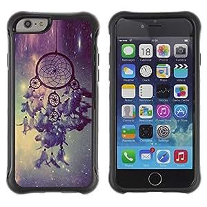 Suave TPU GEL Carcasa Funda Silicona Blando Estuche Caso de protección (para) Apple Iphone 6 / CECELL Phone case / / Dream Catcher Stars Sky Night Light /