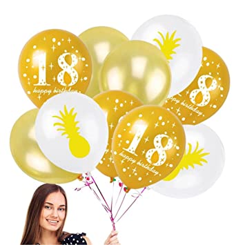 Amazon.com: enjocho Juego de 10 confeti globos,