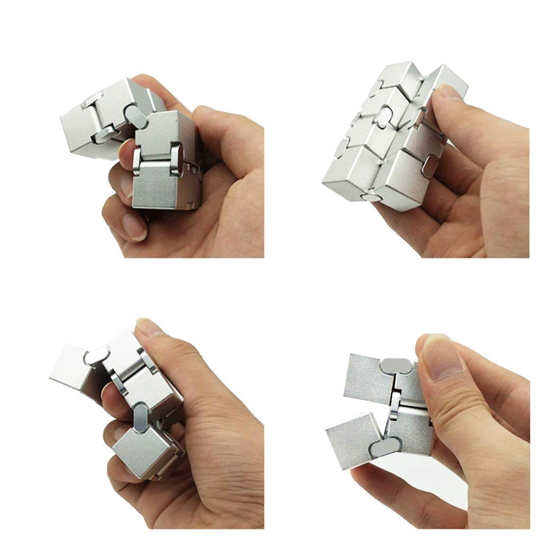 Metal Infinity Cube, Fidget Cube New Version Fidget Finger Toys, Infinity Turn Spin Cube EDC Fidgeting for ADD, ADHD, Anxiety, and Autism Adult and Children. by SULCMAG (Image #3)
